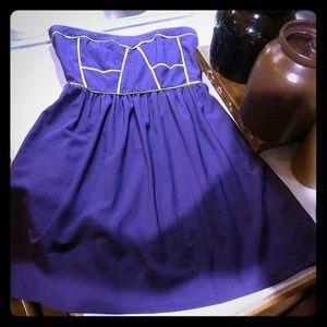 Ya Los Angeles Purple Strapless Cocktail Dress